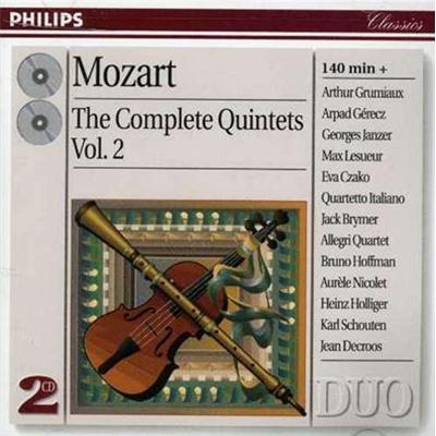 意大利四重奏乐团&阿瑟·格鲁米欧 - 莫扎特:五重奏全集vol.